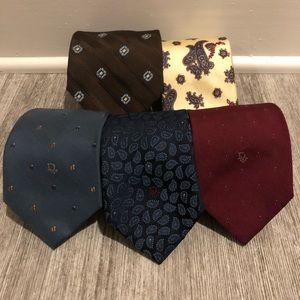 Christian Dior vintage Luxury Ties (5 pack)